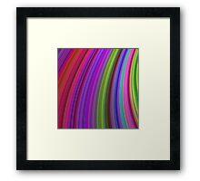 Happy spring stripes Framed Print