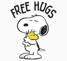 Free Hugs Snoopy Kids Tee