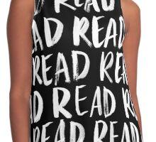 Read, Read, Read (Black) Contrast Tank