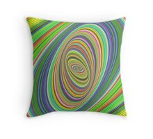Psychedelic ellipse Throw Pillow