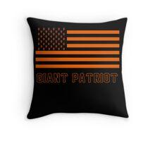 Giant Patriot (On Black) Throw Pillow