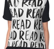 Read, Read, Read (White) Chiffon Top