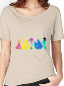 Princesses Inspired Silhouette Women's Relaxed Fit T-Shirt