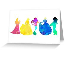Princesses Inspired Silhouette Greeting Card