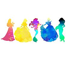 Princesses Inspired Silhouette Photographic Print