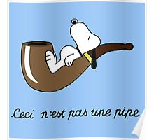 Pipe Bed Snoopy Poster