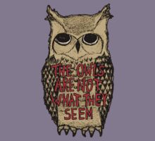 Twin Peaks - Owl quote Kids Tee