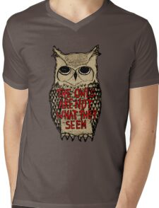 Twin Peaks - Owl quote Mens V-Neck T-Shirt