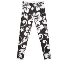 black and white flower design  Leggings