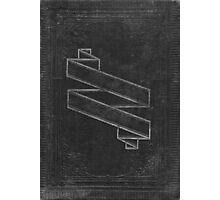 Vintage Black Embossed Book Cover Photographic Print