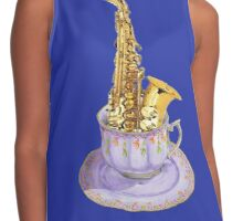 Music is Everyone's Cup of Tea - Saxophone Contrast Tank