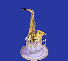 Saxophone - Musical Cup of Tea by didielicious