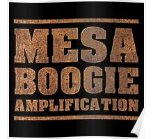 Rusty Mesa Boogie Amps Poster