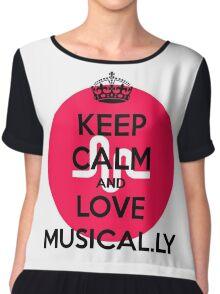 musically logo Chiffon Top