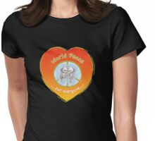 WORLD PEACE OTTERS Sunset Womens Fitted T-Shirt