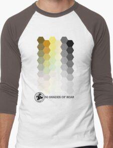 50 Shades of Bear Hex Style Men's Baseball ¾ T-Shirt