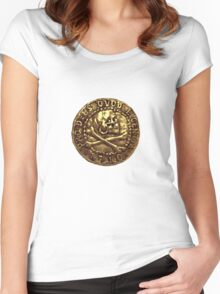 Uncharted 4 Henry Avery's Coin Women's Fitted Scoop T-Shirt