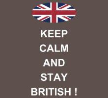 Keep Calm And Stay British Baby Tee