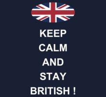 Keep Calm And Stay British Kids Tee