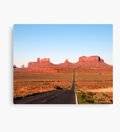 On  the road to Monument Valley. Look familiar? Canvas Print