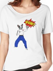 PAW POW - Kungfu Dog Women's Relaxed Fit T-Shirt