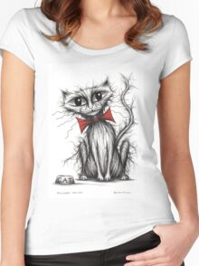 Pilchard the cat Women's Fitted Scoop T-Shirt