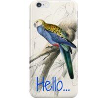 Vintage Parrot Print iPhone Case/Skin