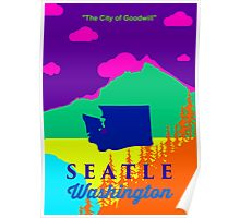 Seattle Washington. Poster