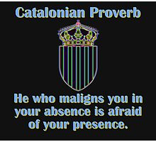 He Who Maligns You - Catalonian Proverb Photographic Print