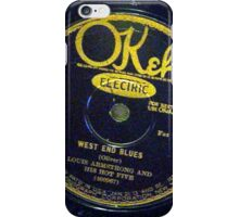 West End Blues - Louis Armstrong & His Hot Five, 1928 Okeh  78 label  iPhone Case/Skin