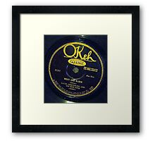West End Blues - Louis Armstrong & His Hot Five, 1928 Okeh  78 label  Framed Print