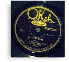 West End Blues - Louis Armstrong & His Hot Five, 1928 Okeh  78 label  Canvas Print