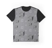 Birds and eyes gray Graphic T-Shirt