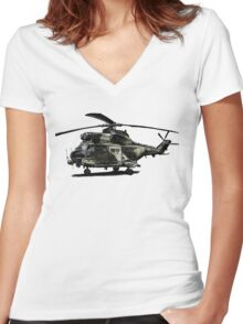 Puma Helicopter Women's Fitted V-Neck T-Shirt