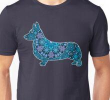 Corgi Bohemian Blue Unisex T-Shirt