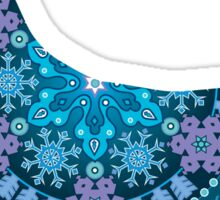 Corgi Bohemian Blue Sticker