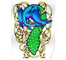 Peacock Dragon Poster
