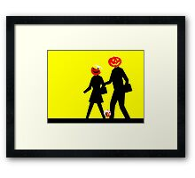 Trick or Treat Crossing Framed Print