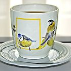Cup of tea with a tweet by Arie Koene
