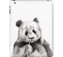 Cute Black and White Panda Illustration iPad Case/Skin