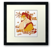 Can You Feel the Love Tonight Framed Print