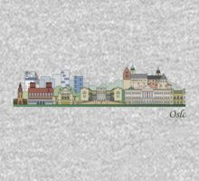 Oslo skyline colored Baby Tee