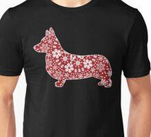 Corgi Christmas Snowflakes Unisex T-Shirt
