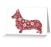 Corgi Christmas Snowflakes Greeting Card