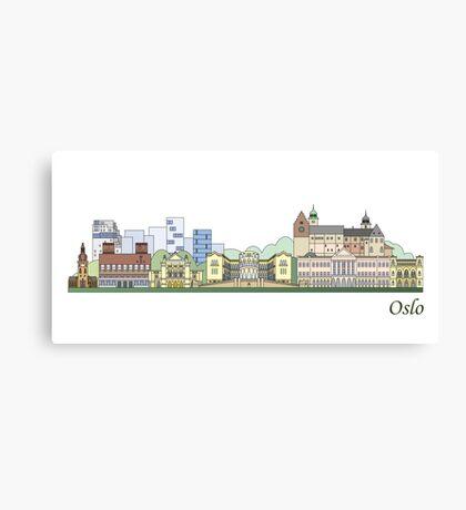 Oslo skyline colored Canvas Print