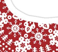 Corgi Christmas Snowflakes Sticker