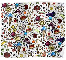 Sweet Tooth Watercolor painting Poster