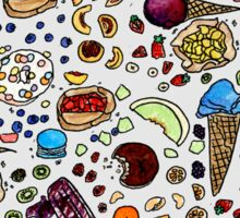 Sweet Tooth Watercolor painting Sticker