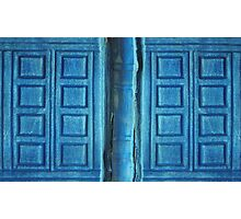 Doctor Who River Song Blue Tardis Journal Photographic Print