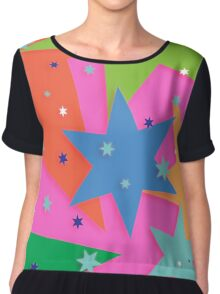 Starry and Colourful Chiffon Top